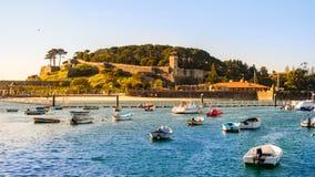 Port de Baiona Pontevedra, Espagne image stock