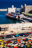 Port de Barcelona -  logistics port Stock Photography