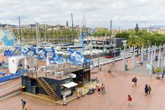 port de Barcelone Images libres de droits