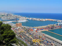Port de Barcelone Image libre de droits