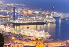 port de Barcelone Photo libre de droits
