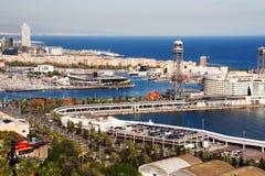 port de Barcelone Photos libres de droits