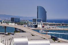 port de Barcelone image stock
