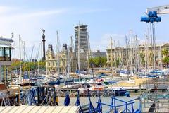 Port de Barcelone, Espagne Images libres de droits