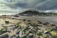 Port de Barmouth à l'été au R-U images libres de droits