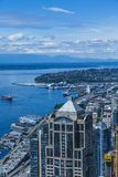 Port de bateau de croisière dans Puget Sound Images stock