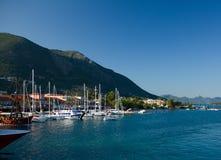 Port de bateau de Nydri de voyage de ciel bleu de nature d'été de Leucade Grèce Photo stock