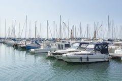 Port de bateaux à voile Image stock