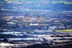 Port de Belfast - Irlande du Nord Image libre de droits