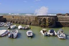 Port de Biarritz dans les Frances Photo libre de droits