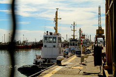 Port de blanc d'Ingeniero en Argentine. Photos stock