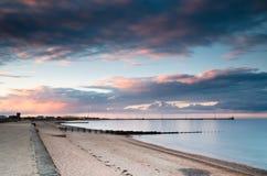 Port de Blyth au coucher du soleil Image stock