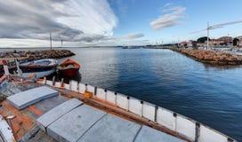 Port de Bouzigues - Herault - France. Vue du port de Bouzigues - Herault - Occitania - France stock image