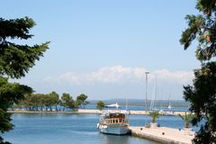 Port de Brioni, Croatie Images stock