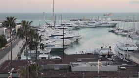 Port de Cannes banque de vidéos