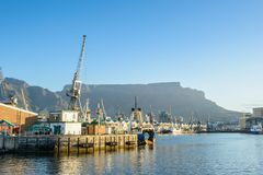 Port de Cape Town, Afrique du Sud photo stock