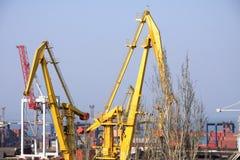 Port de cargaison à Odessa Photos libres de droits