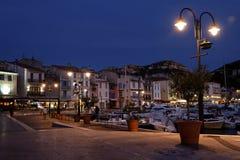 Port de cassis la nuit Image libre de droits