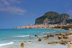 Port de Cefalu en Sicile images libres de droits