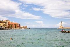 Port de Chania, Crète Photo libre de droits