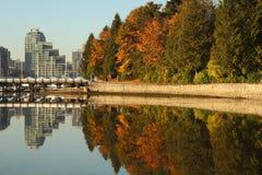 Port de charbon, stationnement de Stanley, Vancouver Images libres de droits
