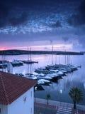 Port de ciel bleu Image libre de droits