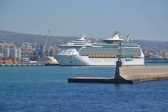 Port de Civitavecchia - l'Italie Photos libres de droits