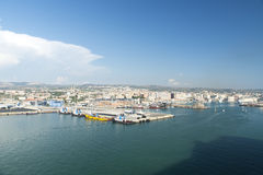 Port de Civitavecchia - l'Italie Images libres de droits