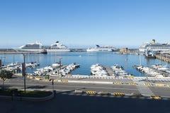 Port de Civitavecchia - l'Italie Photo libre de droits