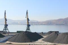Port de commerce de mer Photographie stock
