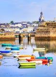 Port de Concarneau, la Bretagne, France Photographie stock libre de droits