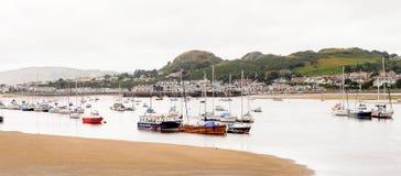 Port de Conwy, Pays de Galles, Grande-Bretagne Photographie stock libre de droits