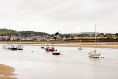 Port de Conwy, Pays de Galles, Grande-Bretagne Photos libres de droits