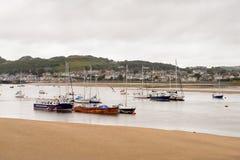 Port de Conwy, Pays de Galles, Grande-Bretagne Images stock