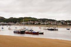Port de Conwy, Pays de Galles, Grande-Bretagne Images libres de droits