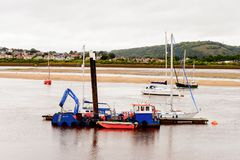 Port de Conwy, Pays de Galles, Grande-Bretagne Image libre de droits