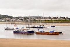 Port de Conwy, Pays de Galles, Grande-Bretagne Photo libre de droits