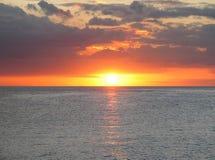 Port de coucher du soleil Images libres de droits