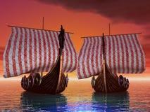 Port de coucher du soleil Photos libres de droits