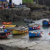 Port de Coverack Photographie stock libre de droits