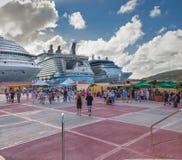 Port de croisière de Philipsburg photo libre de droits