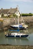 Port de déversoir de Porlock, Angleterre Images libres de droits