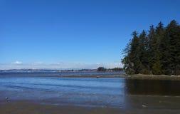 Port de Drayton, Washington et roche blanche, Canada photos stock