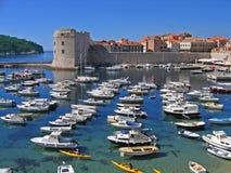 Port de Dubrovnik photos stock