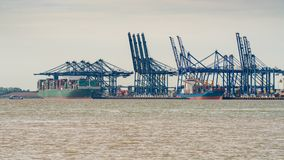 Port de Felixstowe, Suffolk, Angleterre, R-U Photographie stock
