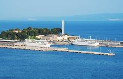 Port de ferry photographie stock