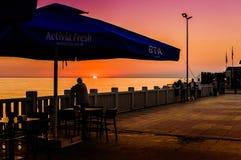 Port de ferry de ville d'été Photos stock