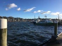 Port de Flensburg en Allemagne Photo stock