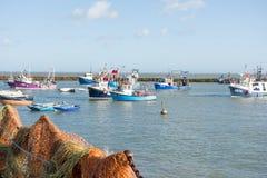 Port de Folkestone, Kent, R-U Photographie stock libre de droits