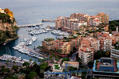 Port de Fontveille panorama. Monte Carlo. Royalty Free Stock Photo